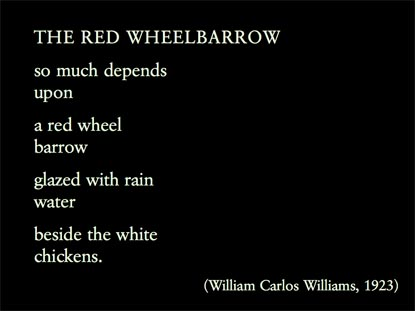 Poem of the week: The Red Wheelbarrow by William Carlos Williams